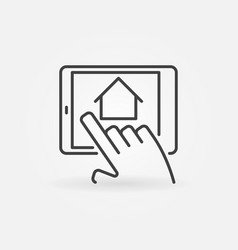Find real estate with tablet vector
