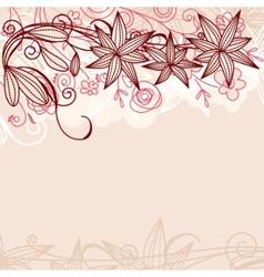 floral pastel frame vector image vector image