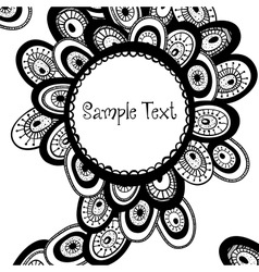 Hand drawn monochrome background vector image vector image