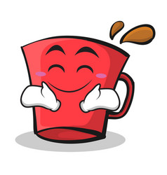 Happy face red glass character cartoon vector