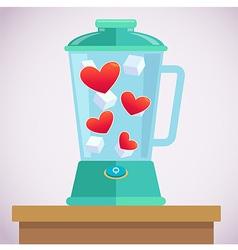 Heart mixer vector