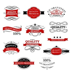 High quality product banners and labels vector image vector image