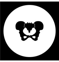 Isolated human skillet bones black icon eps10 vector