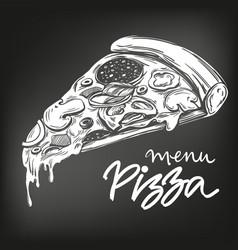 Italian pizza slice pizza design template logo vector