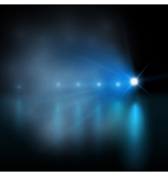 Light show blue vector image vector image