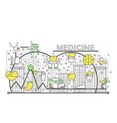 medicine concept flat line art vector image
