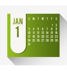 New year calendar schedule vector image