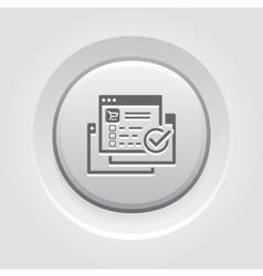 Order Processing Icon Grey Button Design vector image