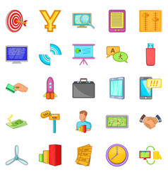 outsourcing icons set cartoon style vector image vector image