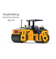 road rollers vibratory vector image vector image