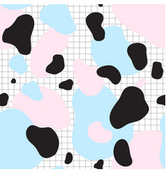 Seamless pattern of blue and pink spots vector