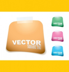 square paper tag vector image vector image