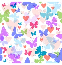 white seamless valentine pattern vector image vector image