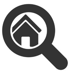 Search house flat icon vector