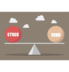 Balancing between stock and bond vector