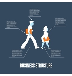 Business structure banner with people vector