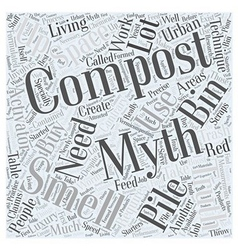 Compost smells this and other composting myths vector