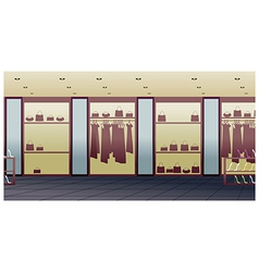 Fashion shop interior vector