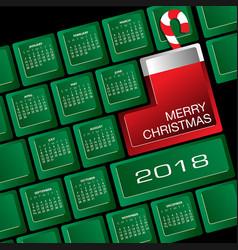 2018 creative keyboard christmas calendar vector image