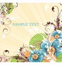 striped yellow background vector image