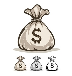 Full sack with money dollars vector