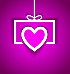 Love gift with shadow effect vector