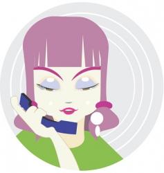 lady illustration vector image