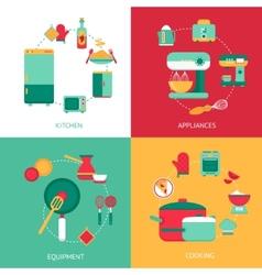 Kitchen Design Concept vector image