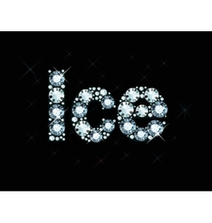 Diamond word ice vector
