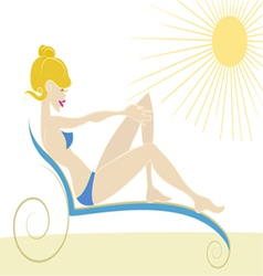Girl on the beach vector