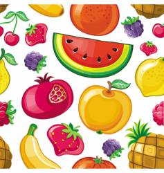 Juicy fruit texture vector