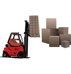 storage boxes vector image