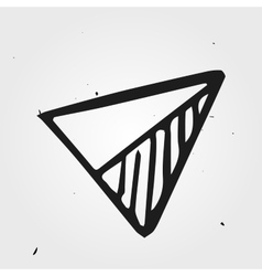 Hand drawn triangle abstract vector