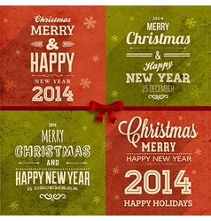 Christmas background set vector