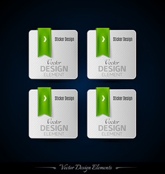 Business stickers on the black background for vector image