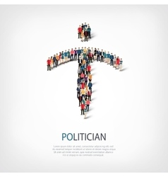 Politician people crowd vector