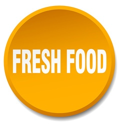 Fresh food orange round flat isolated push button vector