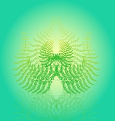 Magical abstract fern bush vector