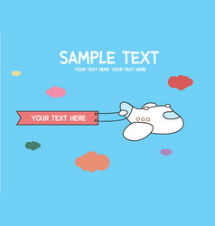 a cute cartoon airplane vector image vector image