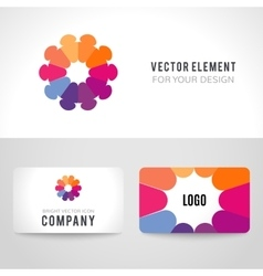 Abstract bright colorful communication logotype vector image
