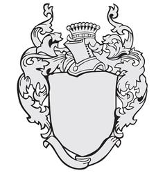 aristocratic emblem No12 vector image vector image