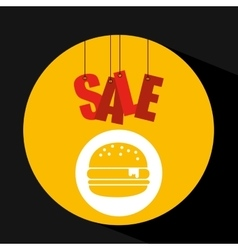 Basket shopping sale burger graphic vector
