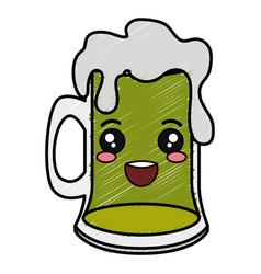 Beer jar celebration kawaii character vector