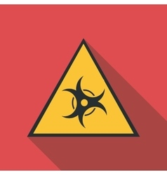 Biological threat icon flat style vector