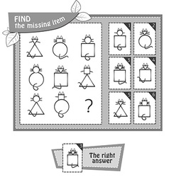 Bw find the missing item cat vector
