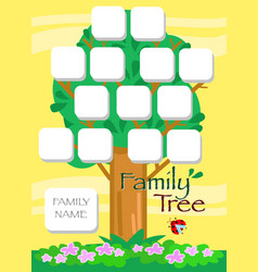 cartoon family tree vector image vector image