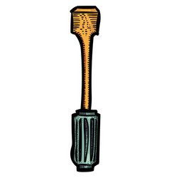 Cartoon image of screwdriver vector