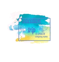 Colourful travel and trip concept vector image vector image