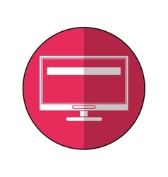 Computer screen tool repair support pink circle vector