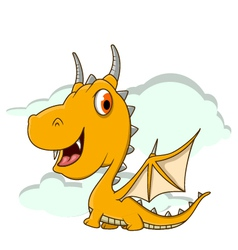 Cute little dragon cartoon vector